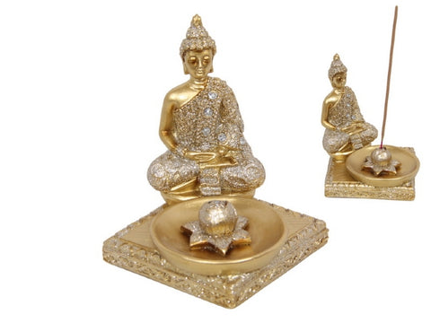 Gold Rulai Buddha Incense Holder (11cm)