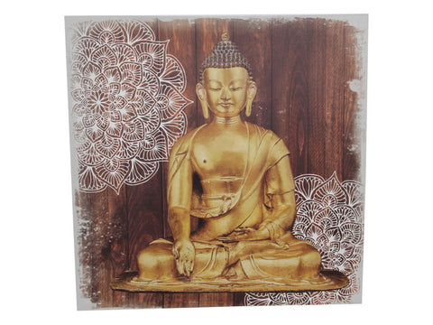 Gold Buddha Mandala Canvas Print