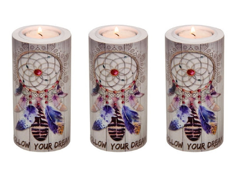 "Round ""Follow your Dreams"" Tealight Holder"