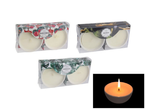 Twin Scented Candle - 3 Assorted