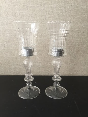 Glass Filigree Tealight Goblets (26cm)