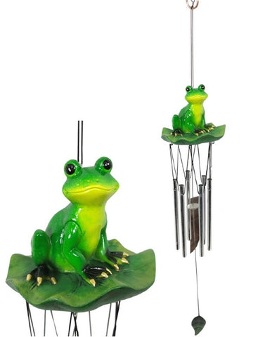 Frog on Lily Pad Windchime (54cm)