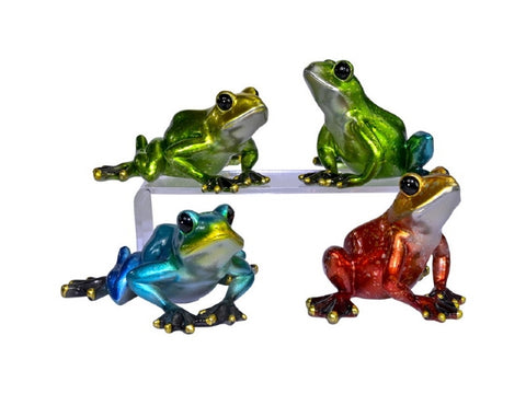 Shiny Marble Look Sitting Frog (13cm)