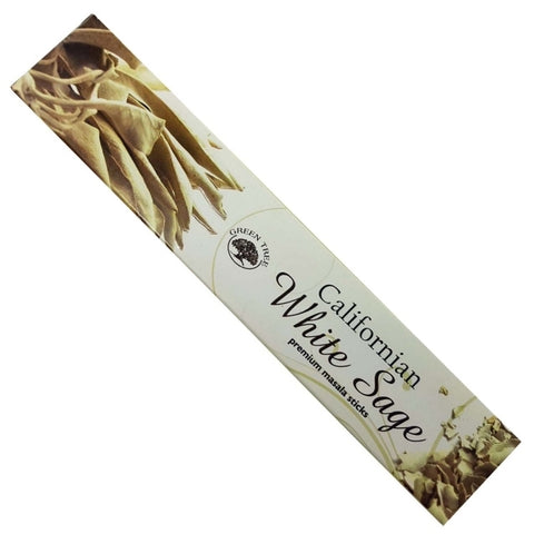 Green Tree Californian White Sage Incense Sticks (15gm)