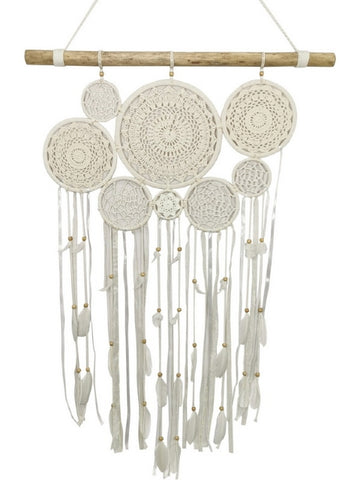 Driftwood Macrame Dream Catcher Wall Art (80cm)