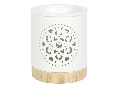White Design Oil Burner (11cm)