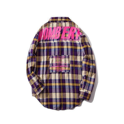 Bomb Plaid Shirt - IkigaiSoul