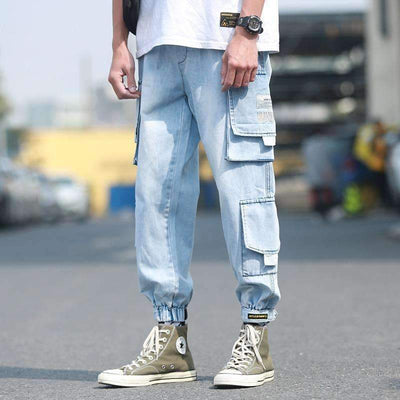 Light Blue Cargo T1 - IkigaiSoul