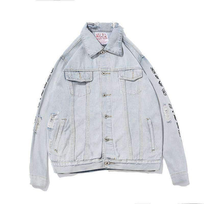 Peek Denim Jacket - IkigaiSoul