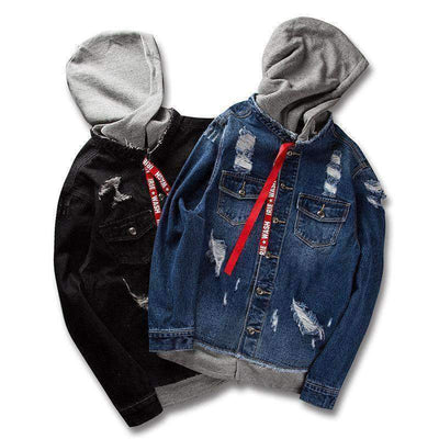 Rock Denim Jacket - IkigaiSoul