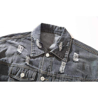 Rock Up Denim Jacket - IkigaiSoul