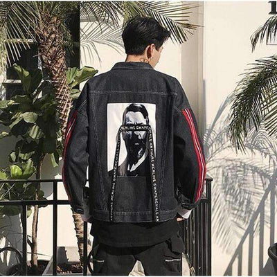 Strange Denim Jacket - IkigaiSoul