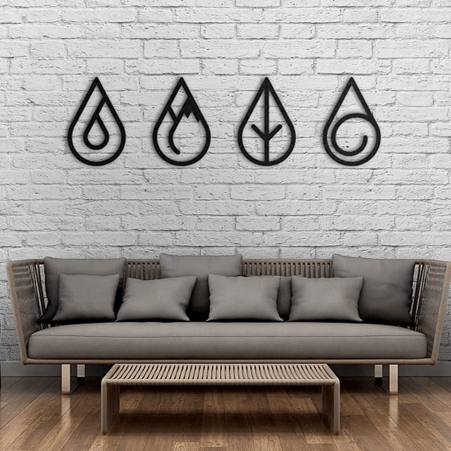 Four Elements Metal Wall Art - Glamorous Hangups Ltd