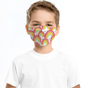 Rainbow Love Child's Face Mask with Filter - Glamorous Hangups