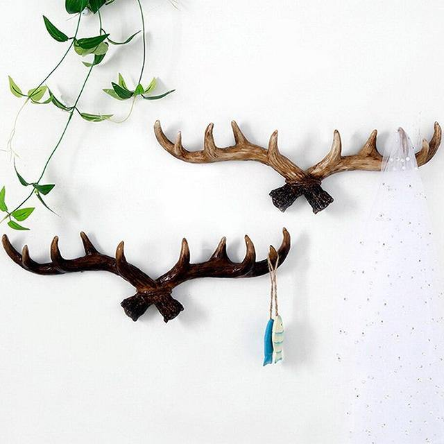 Vintage Deer Antler Wall Hook - Glamorous Hangups Ltd