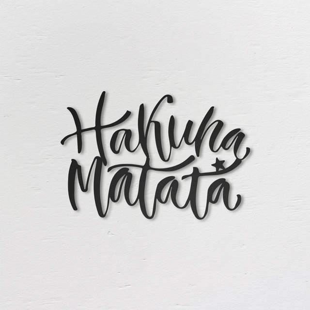Hakuna Matata Metal Wall Art - Glamorous Hangups Ltd