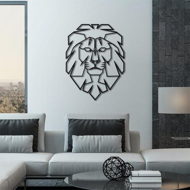 Leo Lion Metal Wall Art - Glamorous Hangups Ltd