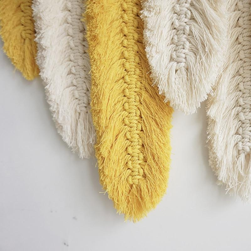 Macrame Feather Wall Hanging - Glamorous Hangups Ltd