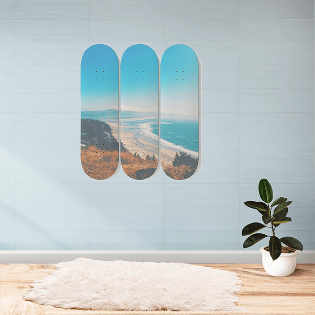 Malibu - 3 Skateboards Wall Art - Glamorous Hangups