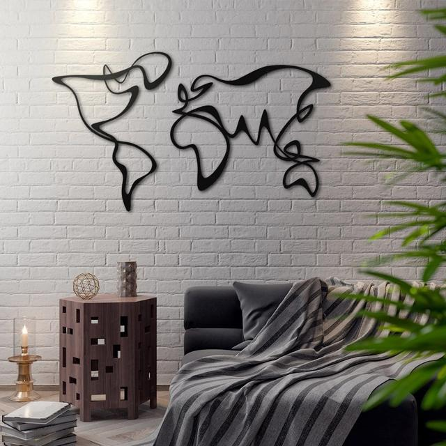 Abstract Map Metal Wall Art - Glamorous Hangups