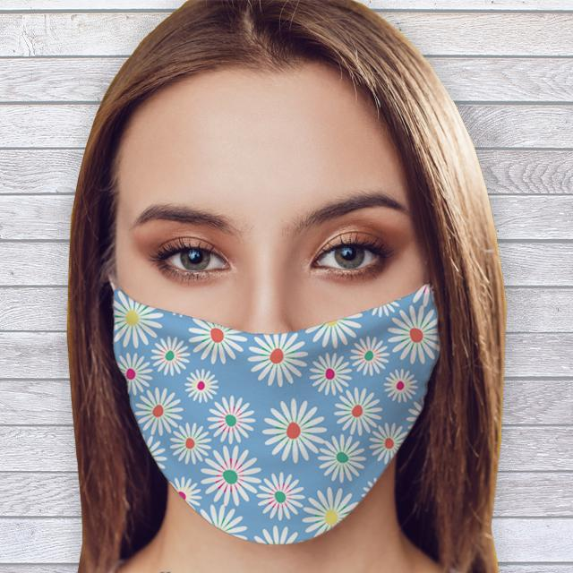Daisy Fashion Face Mask with Filter - Glamorous Hangups Ltd