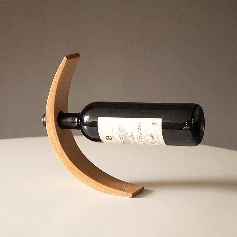 Floating Bamboo Wine Bottle Holder