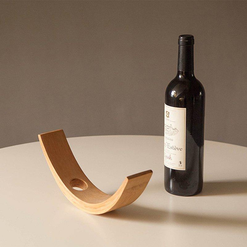 Floating Bamboo Wine Bottle Holder - Glamorous Hangups Ltd