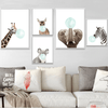 Bubble Gum Baby Animals Nursery Wall Art - Glamorous Hangups