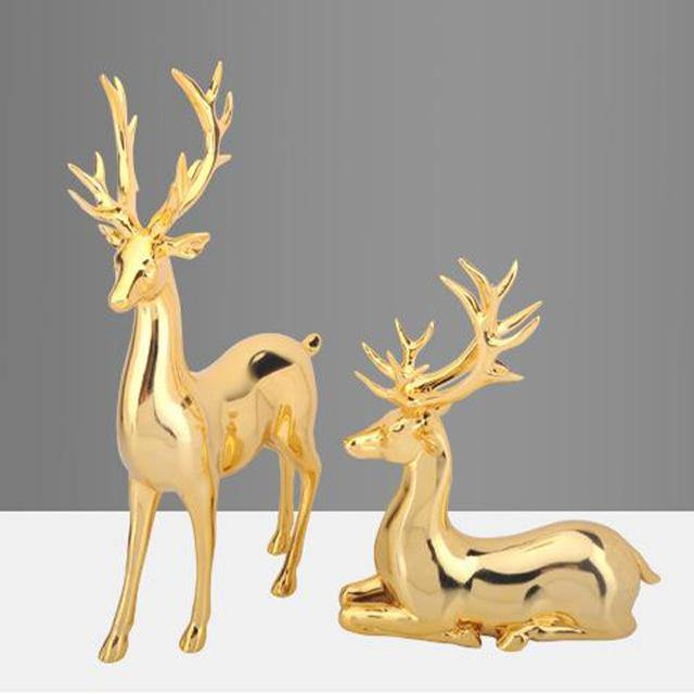 Pair of Deer Table Ornament