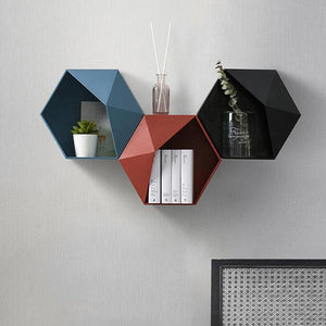 Honeycomb Hexagon Floating Shelves - Glamorous Hangups