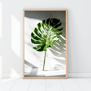 Tropical Leaf and Quote Canvas Wall Art - Glamorous Hangups