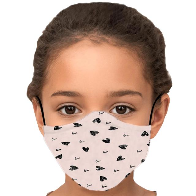 Love Heart Child's Face Mask with Filter - Glamorous Hangups