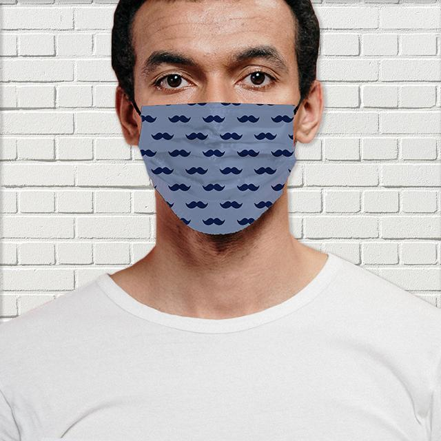 Mustache Man Face Mask with Filter - Glamorous Hangups Ltd