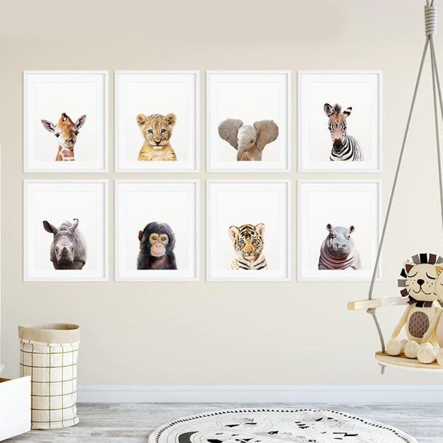 Safari Baby Animals Nursery Print - Glamorous Hangups