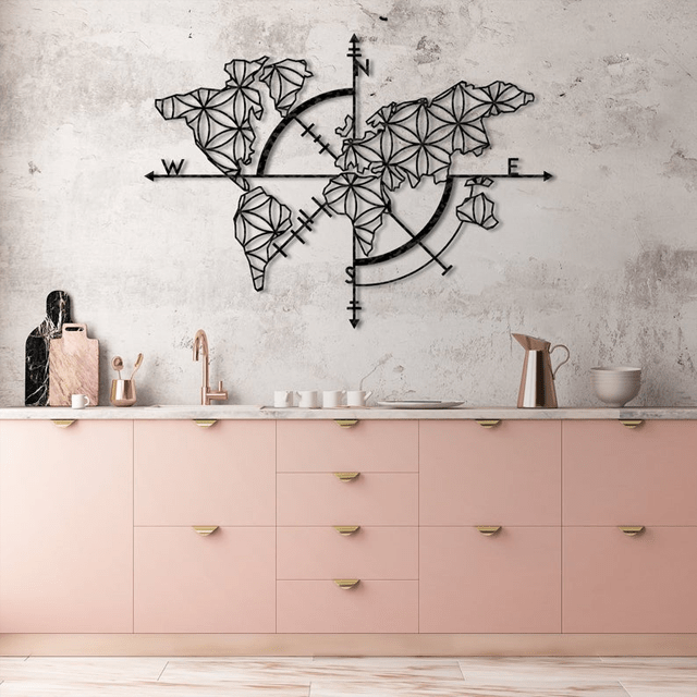 Map of Life Metal Wall Art - Glamorous Hangups