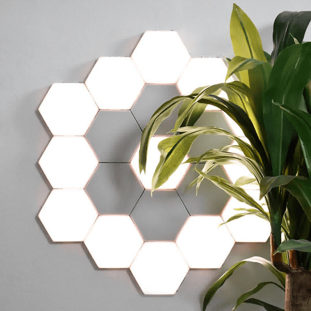 Honeycomb Magnetic Modular Wall Light with Touch Sensitive LED - Glamorous Hangups