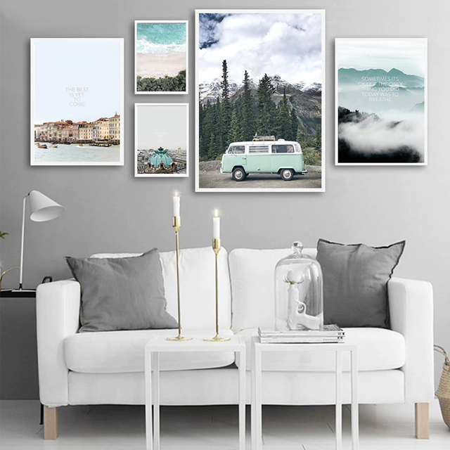 Scandi Mountain Travel Wall Art - Glamorous Hangups