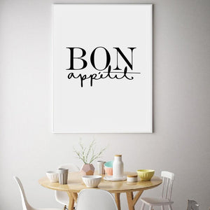 Bon Appetit Coffee Guide Canvas Wall Art - Glamorous Hangups Ltd