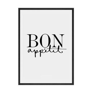 Bon Appetit Coffee Guide Canvas Wall Art - Glamorous Hangups