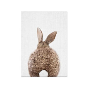 Bunny Rabbit Face & Tail Animal Wall Art - Glamorous Hangups Ltd