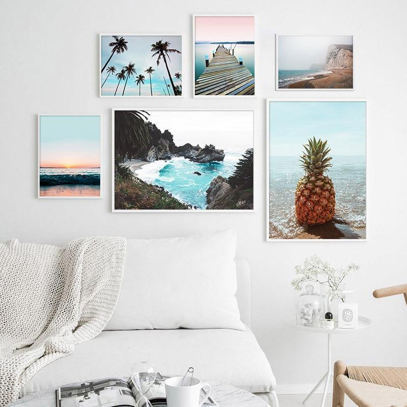 Scandi Ocean Travel Wall Art - Glamorous Hangups