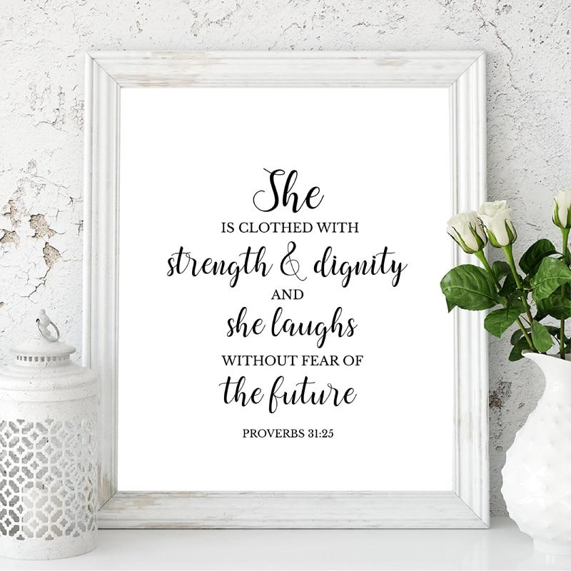 Proverbs 31 Bible Verse Christian Wall Art - Glamorous Hangups Ltd