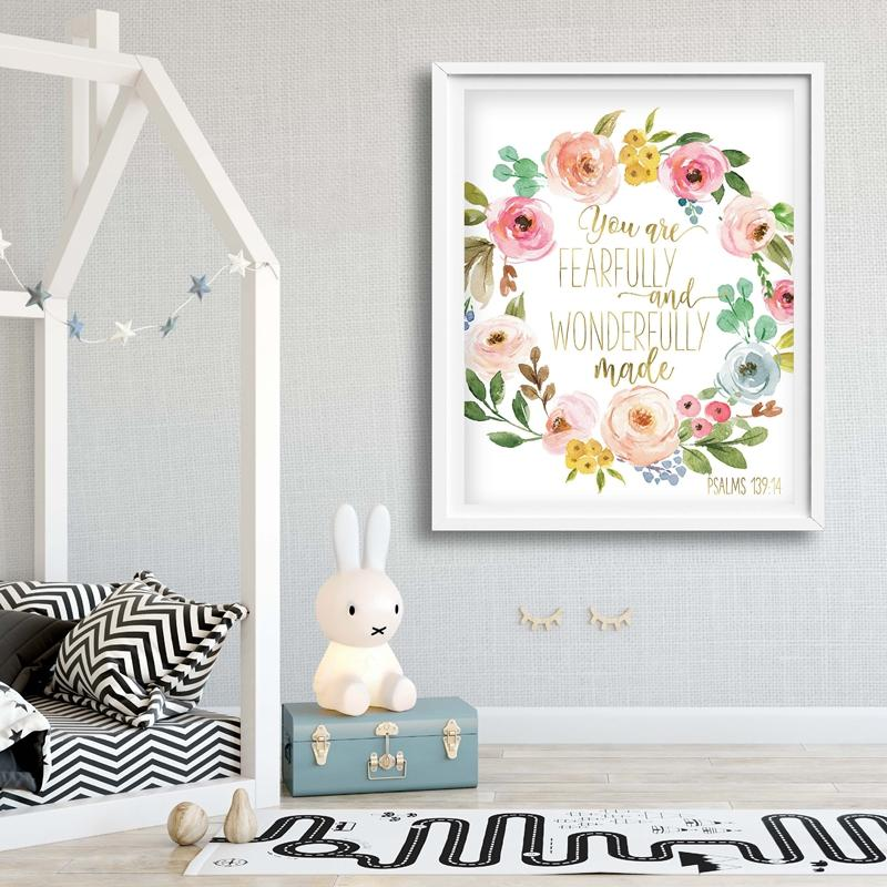 Fearfully and Wonderfully Made Nursery Wall Art - Glamorous Hangups Ltd
