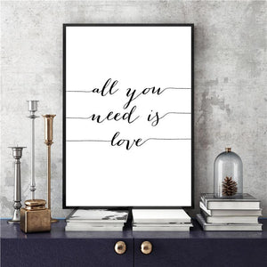 Nordic Minimalist Black & White Quote Wall Art - Glamorous Hangups