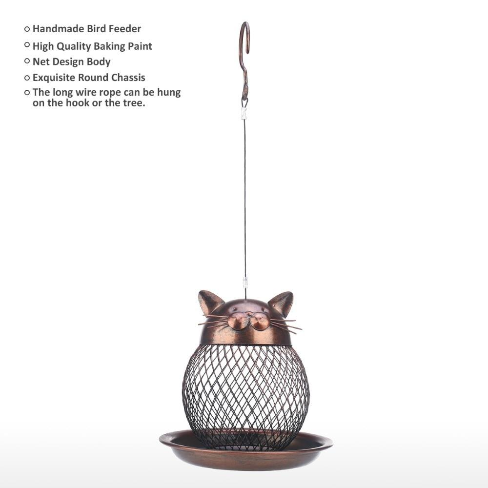 Cat Shaped Outdoor Hanging Bird Feeder - Glamorous Hangups