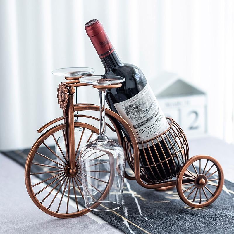 Vintage Tricycle Bottle & Glass Holder - Glamorous Hangups Ltd