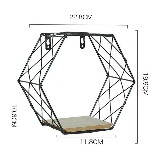 Hexagon Grid Floating Wall Shelves - Glamorous Hangups Ltd
