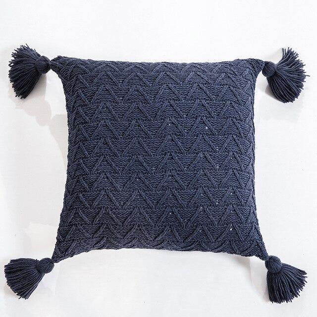 Chevron Knit Cushion Cover - Glamorous Hangups Ltd
