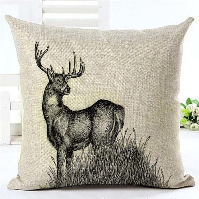 Stag & Deer Cushion Cover