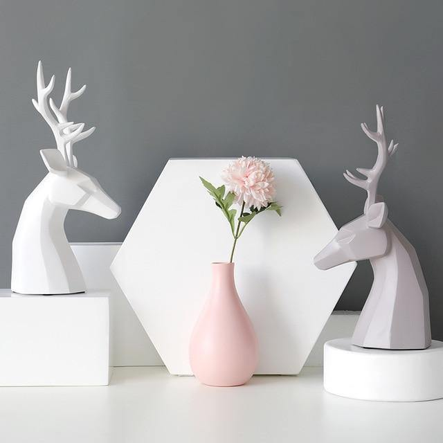 Stag & Vase Resin Table Ornament - Glamorous Hangups Ltd